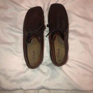 Clarks Stinson Hi Moc Toe Boot Brown Leather